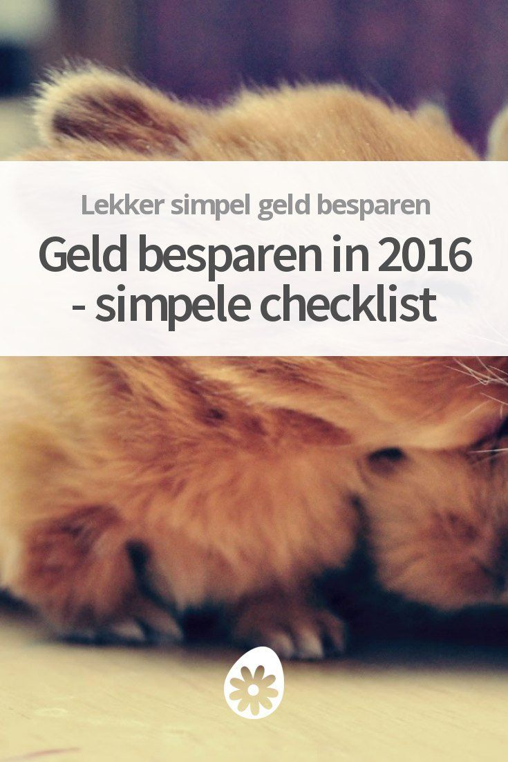 Geld Besparen in 2016 - Simpele Checklist