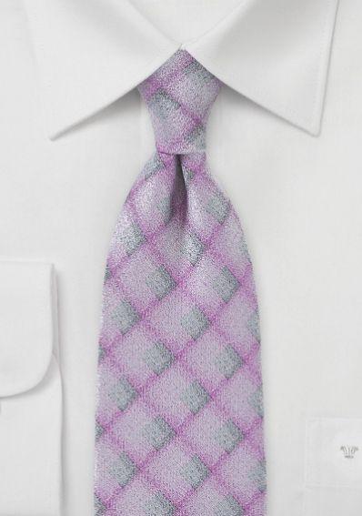 Krawatte opalisierende Karos rosé
