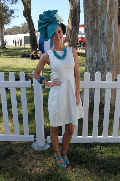 Alex Hecker - The Face of Country Racing Victoria, Avoca Cup 2013, Cue dress, Danica Erard millinery