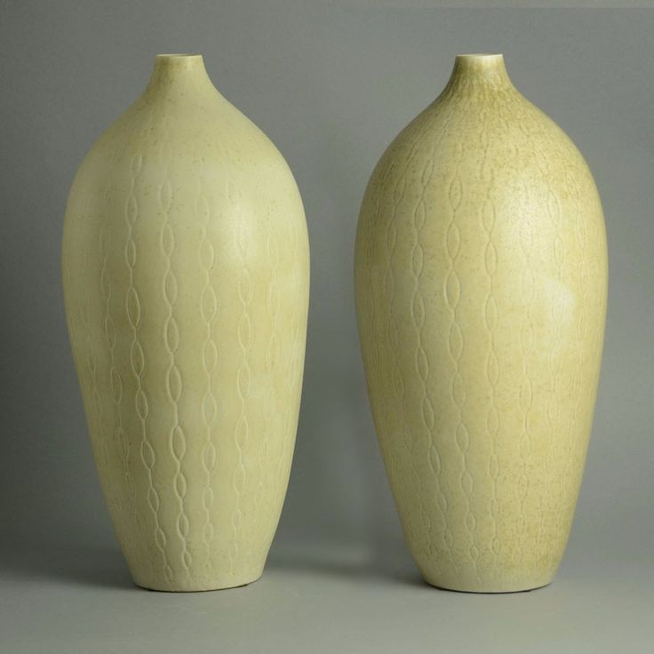 Pair of monumental stoneware vases by Carl Harry Stalhane for Rorstrand