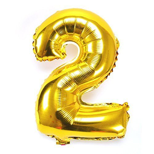 Hoomall Golden Number Balloons Helium Foil Balloon for Birthday Wedding Holiday Party 2. #Hoomall #Golden #Number #Balloons #Helium #Foil #Balloon #Birthday #Wedding #Holiday #Party