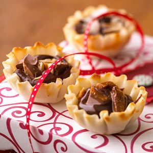 Transform your favorite candy bars into tantalizing little tarts using mini phyllo shells