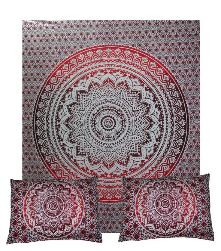 Indian Mandala Quilt Duvet Cover Queen Bedding Ethnic Doona Cover Blanket Cotton #Handmade #DuvetCover