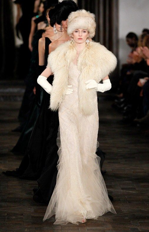 winter wedding attire in the russian style by ralph lauren from his last collection 2013