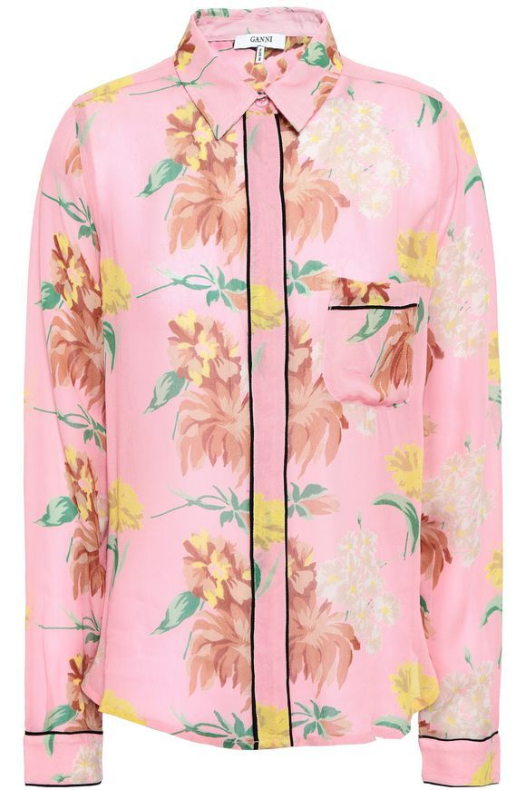 0ae0d897 Marceau floral-print georgette shirt | GANNI | Sale up to 70% off | THE  OUTNET