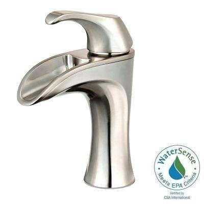 Brea 4 in. Centerset Single-Handle Bathroom Faucet in Brushed Nickel