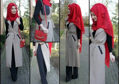outfit, fashion, and hijab image