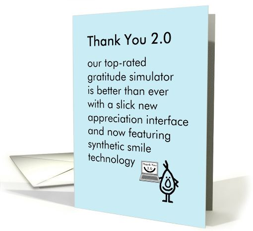 Thank You 2.0 - a funny thank you poem card (1388082)