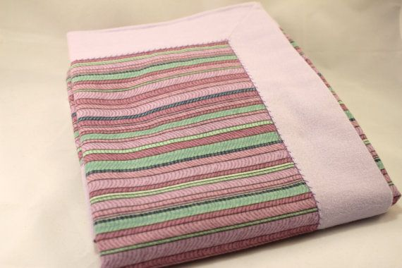 Lavender Double Layer Receiving Blanket  Snuggle by KRaeDesign