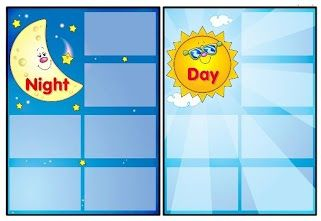 Wat hoort bij de dag en wat hoort bij de nacht 1. free printable