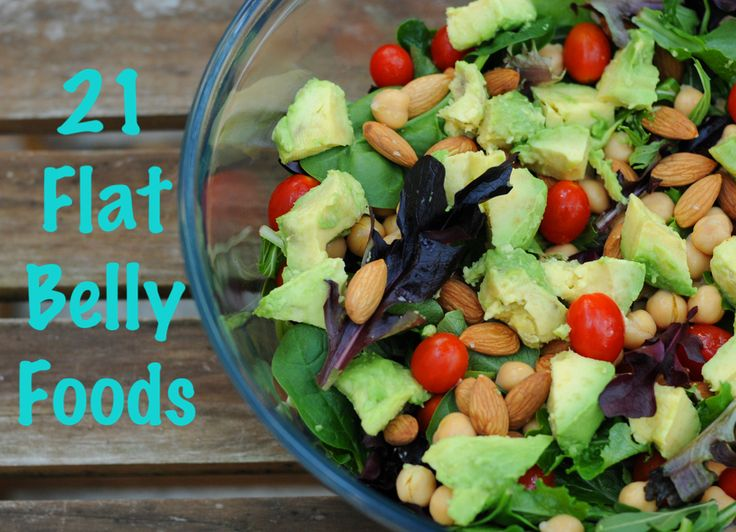 Wanting to get rid of that tummy fat or slim down for summer? Workout & check out this list of 21 flat belly foods