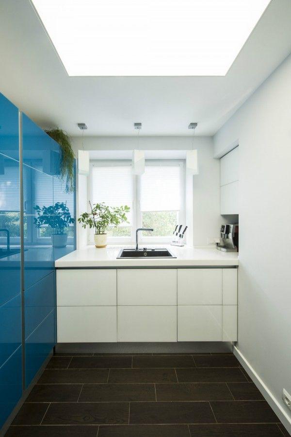 Blauw-witte keuken