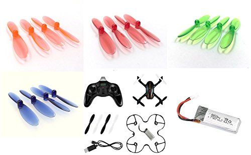 Hubsan X4 Plus H107P QTY 1 HUBSAN X4 Plus H107P Quadcopter QTY 1 H107P09 Battery 37v 520mah LiPo Power Pack Drone Part QTY 1 Transparent Clear Blue Propeller Blades Props Rotor Set 55mm Fac >>> Check out the image by visiting the link. This is an affiliate link.
