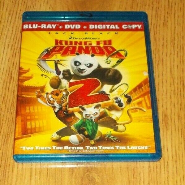 Kung Fu Panda 2 Blu Ray Dvd 2011 2 Disc Set Dreamworks Kung Fu Panda Blu Ray Blu