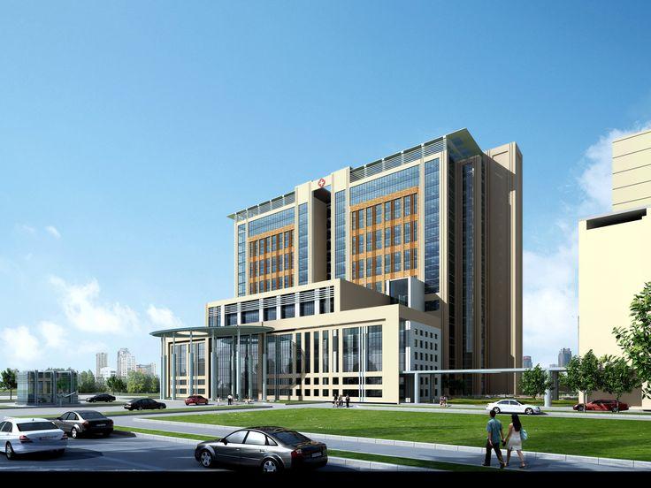 modern hospital 3d model max 1