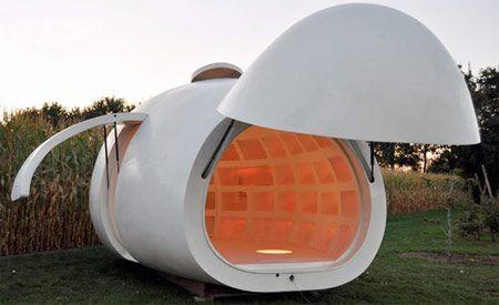Casa mobile con ruote, Piccolo box dal design moderno e accogliente