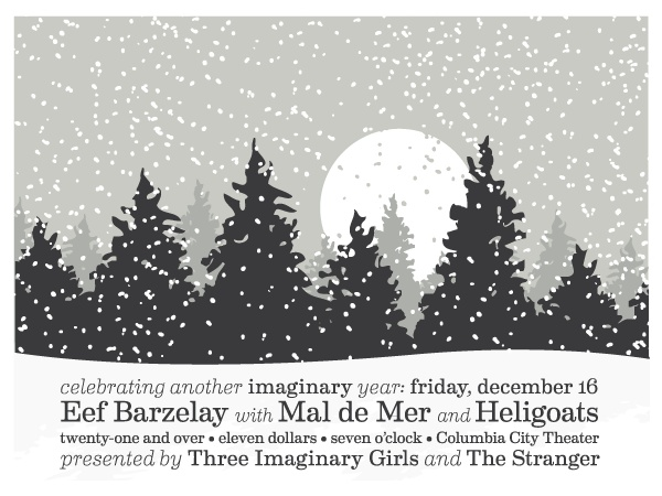 our 2011 imaginary holiday party poster by Seattle Show Posters/Row Boat Press! (it glows in the dark!)