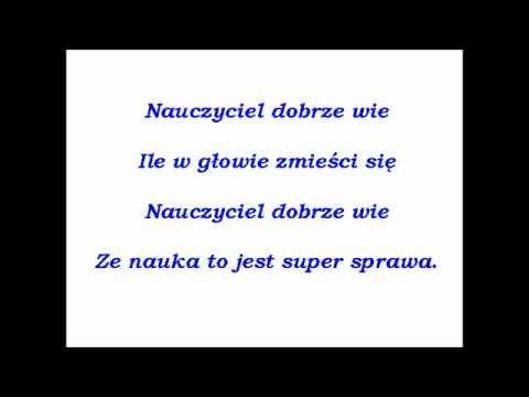 Piosenka dla nauczyciela
