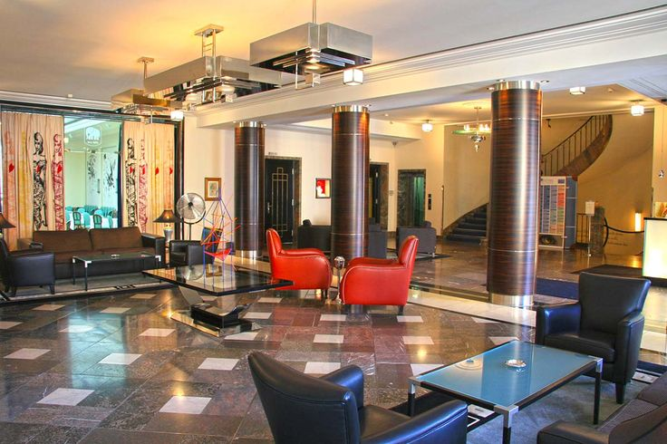 1930's original cleverly, seamlessly, extended in the Elephant Weimar http://www.hoteldesigns.net/review/review_361_1.html