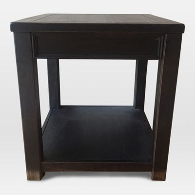 Delightful Dark Wood End Table From Living Spaces In Tables 280/179