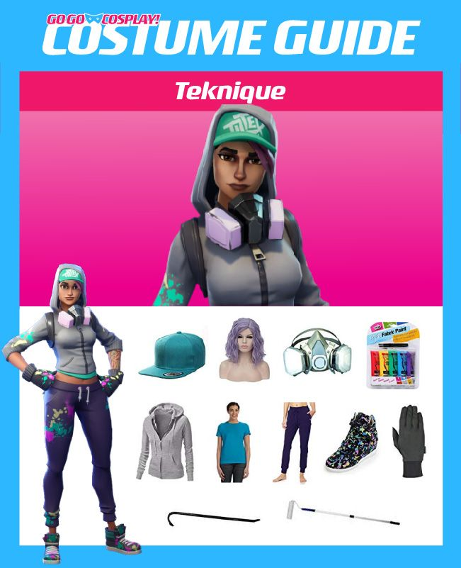 Fortnite Family Halloween Costumes.Teknique Costume Guide Diy Cosplay Halloween Ideas