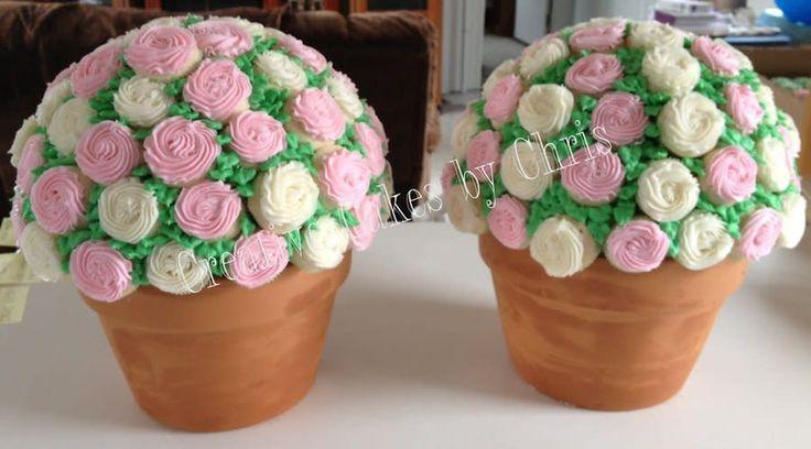Image result for cupcake flower pots