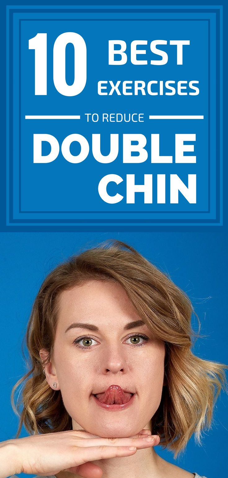 how to lose double chin exercise