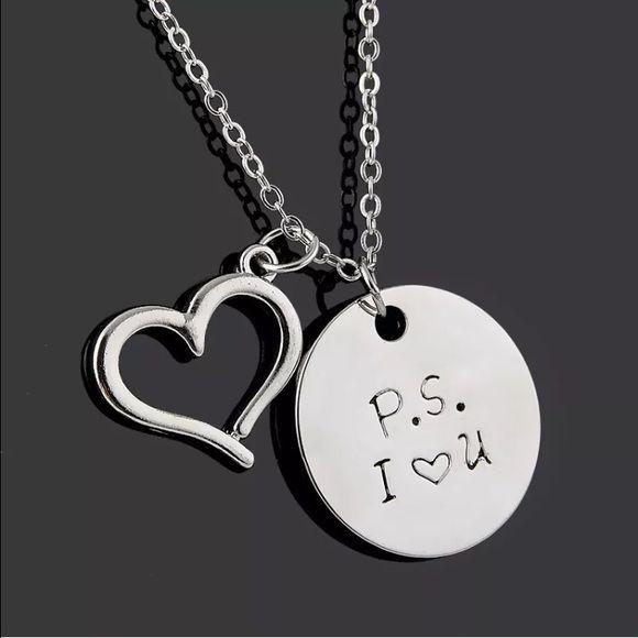 ❗️BOGO ❗️ P. S. I Love You Necklace NWT. Silvertone. NO TRADES Quinn-Tessential Designs Jewelry Necklaces