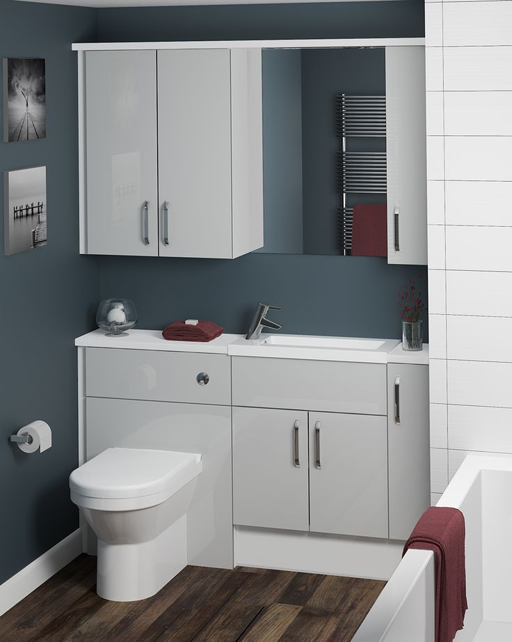 The neutral tones of our Cool Grey furniture makes it effortlessly sophisticated; topped off with a high gloss finish. Cool Grey can create a calm and minimalistic bathroom, for a relaxing atmosphere. It looks best with a neutral or monochrome colour scheme.