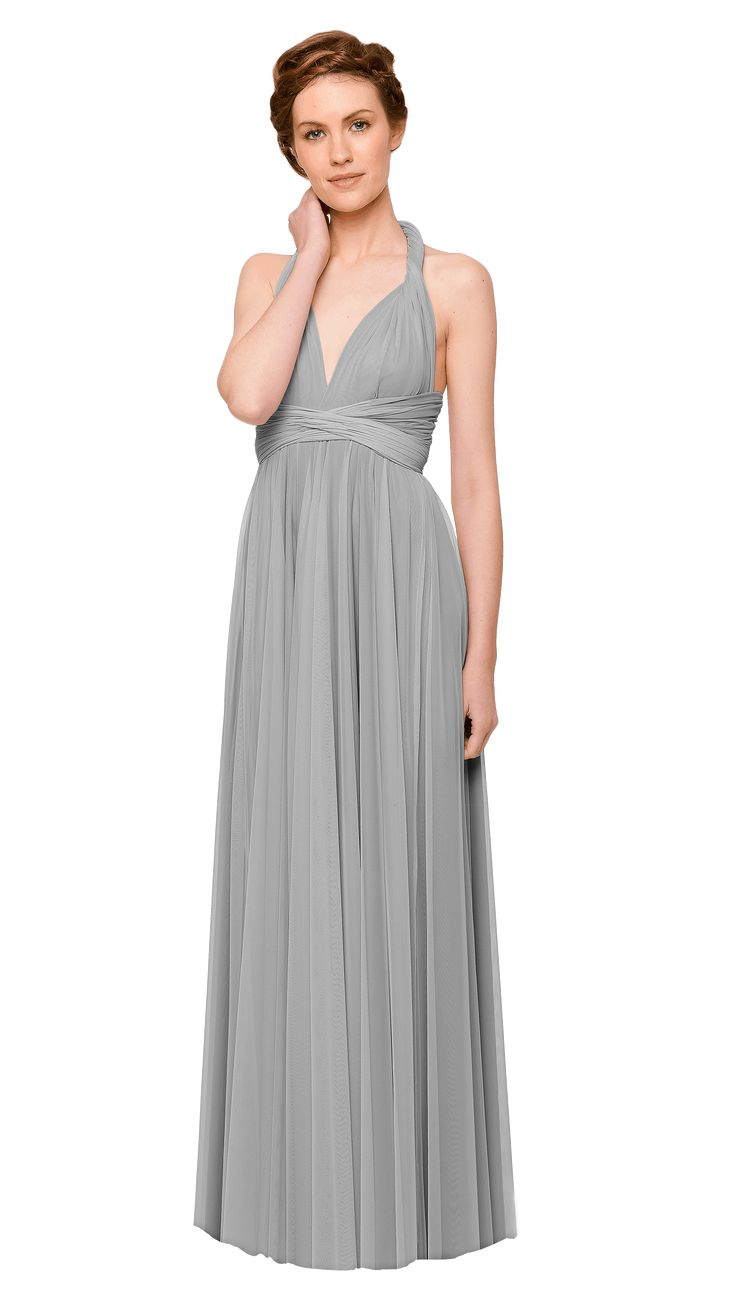 11 best bridesmaid dresses images on pinterest bridesmaids our convertible tulle floor length bridesmaid dress can be twisted and tied in endless different ways ombrellifo Images