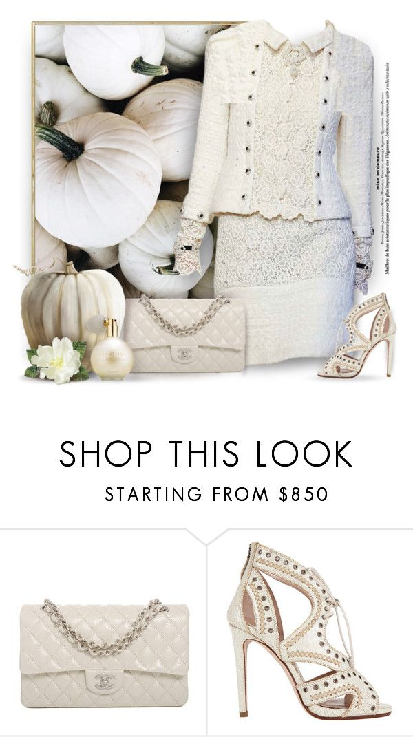 """Pumpkins & Lace"" by debraelizabeth ❤ liked on Polyvore featuring Mandi, Bebe, Chanel, Miu Miu and Estée Lauder"