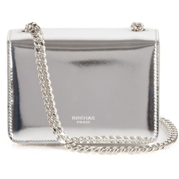 Rochas Metallic leather shoulder bag (15.845.065 VND) ❤ liked on Polyvore featuring bags, handbags, shoulder bags, purses, bolsas, clutches, silver, pink purse, pink handbags and pink shoulder bag
