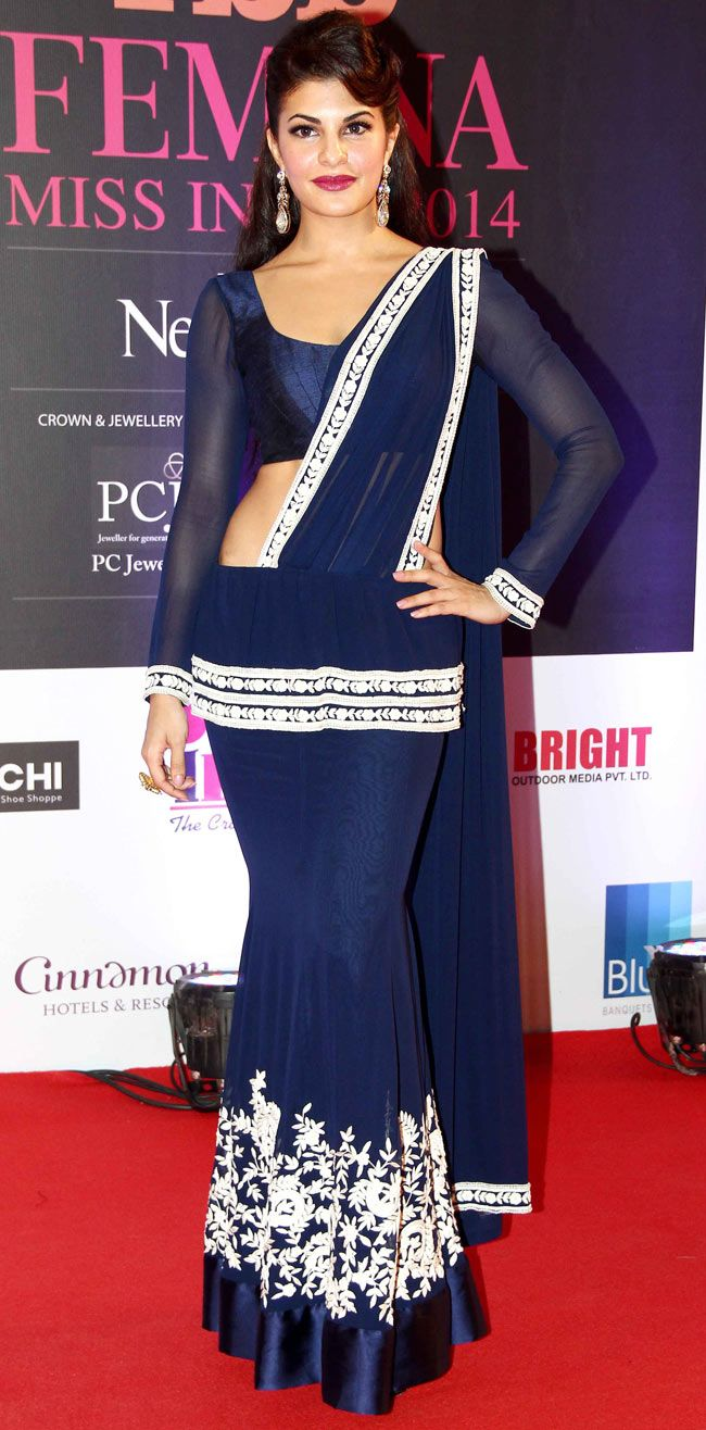 Jacqueline Fernandez on the red carpet at Miss India 2014.