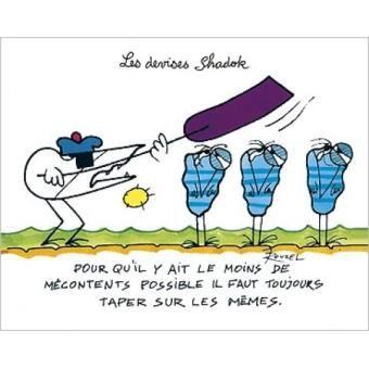 Dictons Rigolos Poster Reproduction - Il Faut Toujours Taper Sur Les Mêmes, Rouxel (24x30 cm)