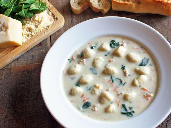 Top Secret Recipes   Olive Garden Chicken & Gnocchi Soup Copycat Recipe