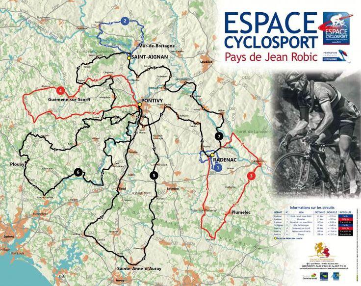 Pour les cyclosportifs, différents parcours sont proposés sur le territoire de Pontivy Communauté. Sept circuits ont été labellisés « Espace Cyclosport » par la Fédération Française de Cyclisme. Les niveaux de difficultés sont variés et permettent aux pratiquants d'élaborer leur programme d'entrainement sportif à la carte. Trois points de départ sont possibles (Pontivy, Radenac et Saint-Aignan) et près de 608 km sont à parcourir.