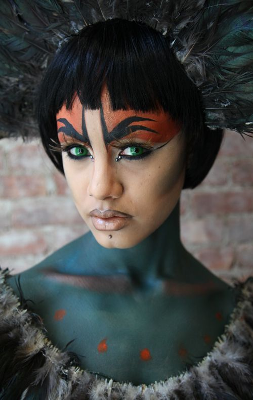 Make-up by Nathan Hejl, second place winner in the beauty/fantasy student competition at IMATS New York 2011. Photo by Deverill Weekes