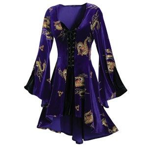 Velvet Dragon Dress- The Pyramid Collection