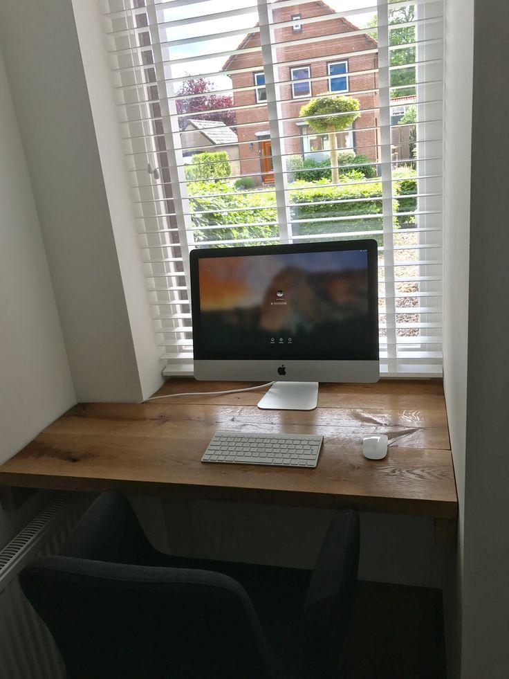 Office corner, oak table