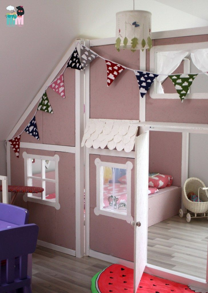diy ein hausbett im kinderzimmer m bel pinterest hausbett kinderzimmer ideen und. Black Bedroom Furniture Sets. Home Design Ideas
