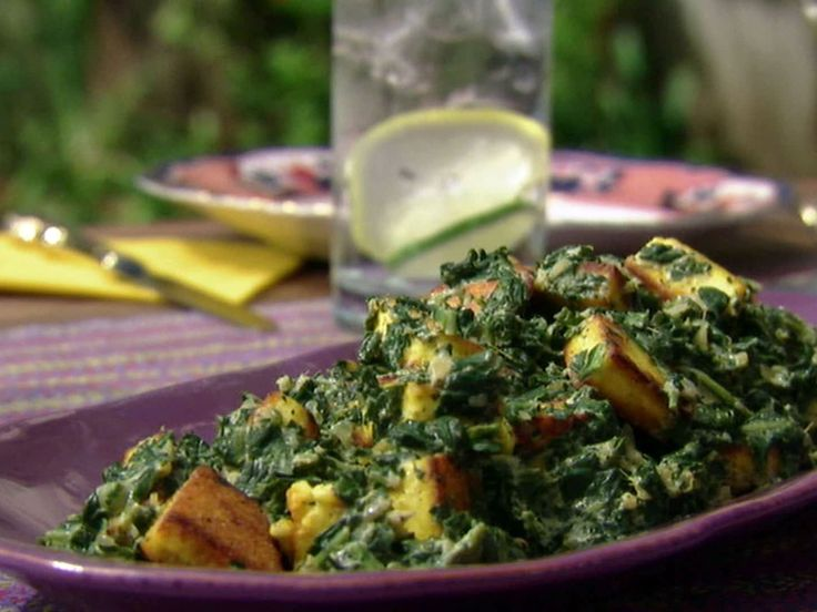 Saag Paneer: Spinach with Indian Cheese recipe from Aarti Sequeira via Food Network