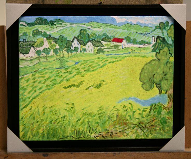 Jose Luis - Trabajo en acrílico, alumno de pintura  Les vessenots en auvers de Van Gogh.