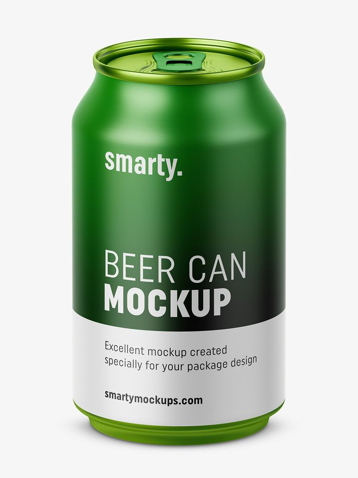 Beer can mockup / 330 ml