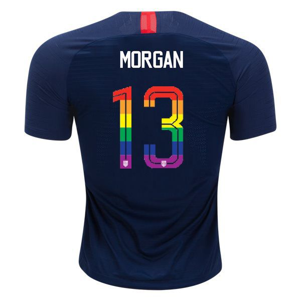 1e6e292cbe2 2018 19 Away Alex Morgan Men s PRIDE Soccer Jersey USA