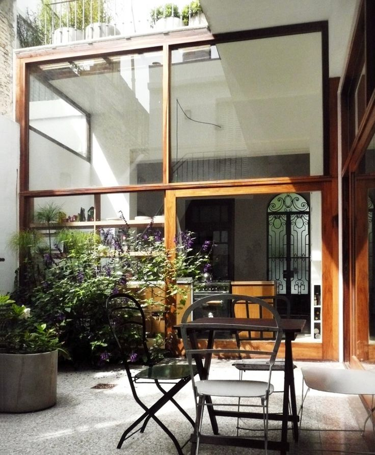 #courtyard of Casa Vlady in Buenos Aires, Argentina : House #Refurbishment / #BVW_Arquitectos #renovation #extension #addition #outdoor #patio