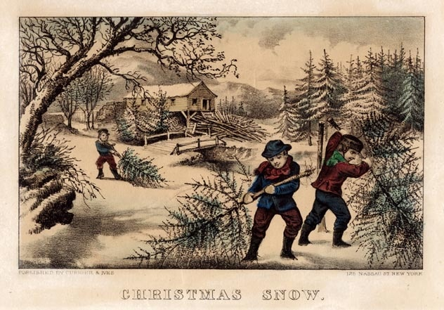 """Currier and Ives - """"Christmas Snow"""" 