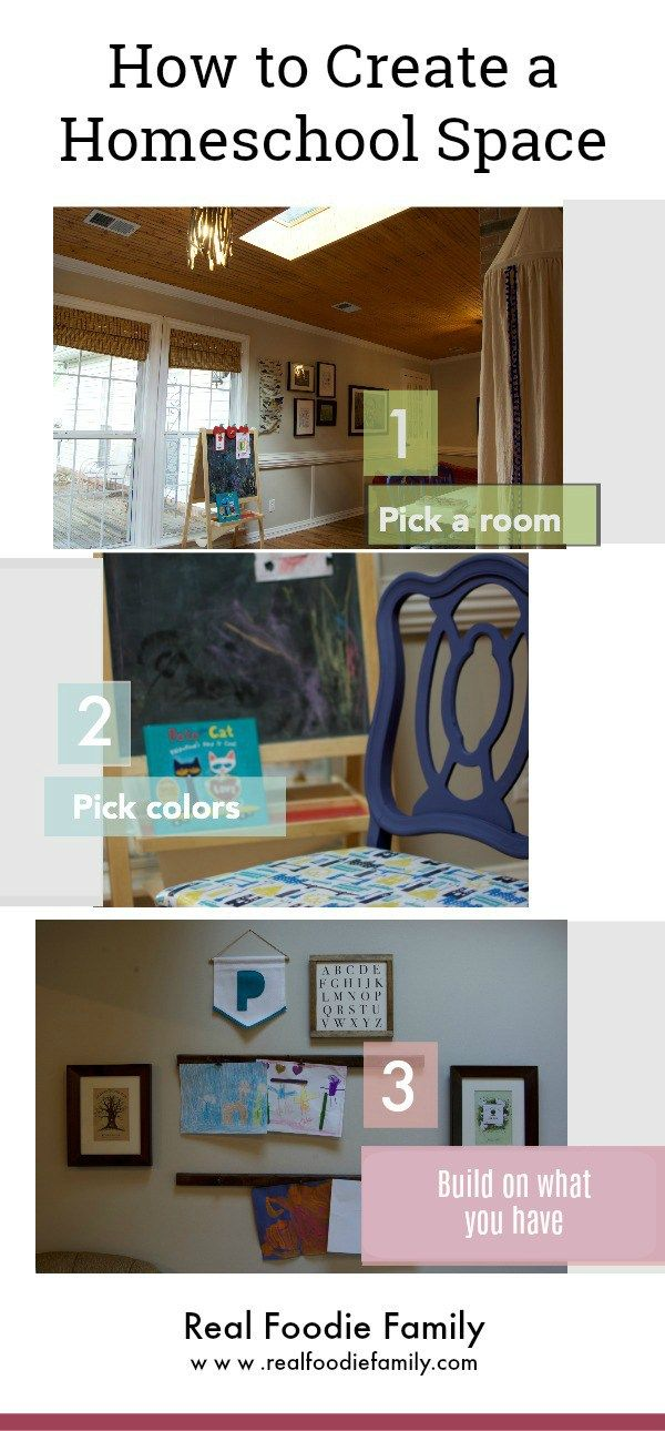 Love this homeschool room tutorial! | Real Foodie Family