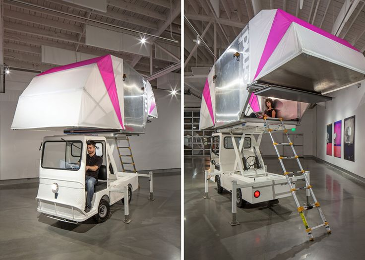 Fabulous truck a tecture transformable structures for nomadic living office of mobile design us