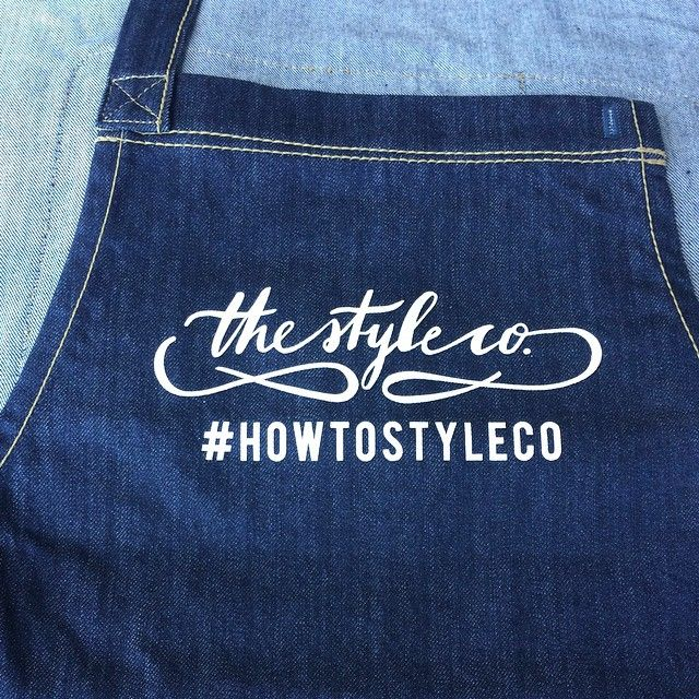 """""""Beautiful apron prints we did at the warehouse for @thestyleco for their workshop #howtostyleco aprons by @cargocrew  #screenprint #aprons #stylist #eventstylist"""""""