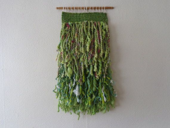 Green Wall hanging by CrisalidaTextile on Etsy